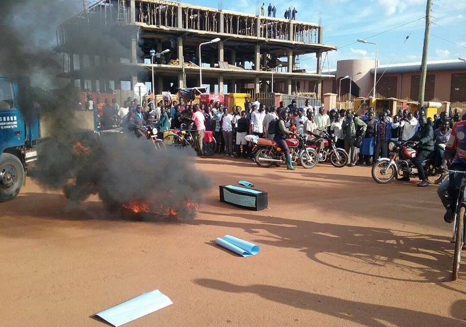 Lira Demonstrators Warned Against Parading Coffins