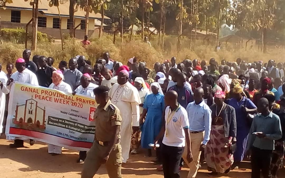 Bishops Lead Thousands In Match For Peace Through Nebbi Town