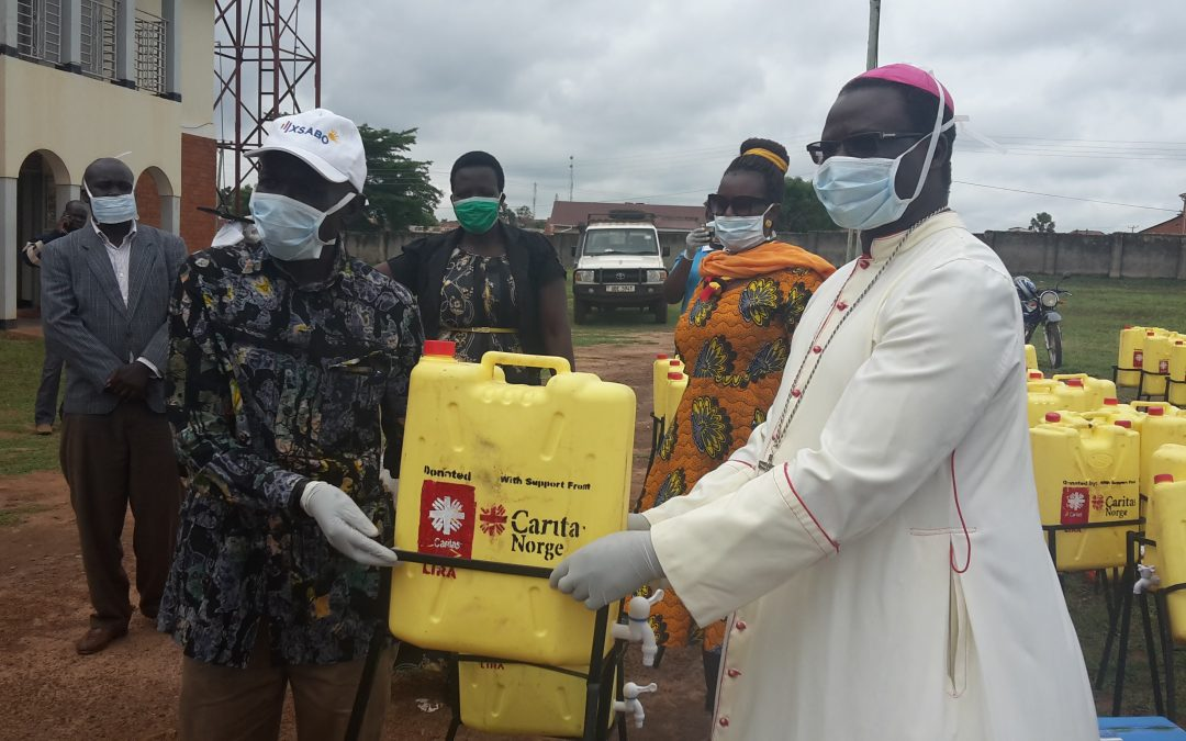 Lira Diocese Donates Hand-Washing Facilities To Fight Coronavirus